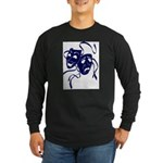 DWP Blue Logo Long Sleeve Dark T-Shirt