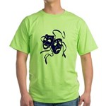 DWP Blue Logo Green T-Shirt