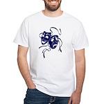 DWP Blue Logo White T-Shirt
