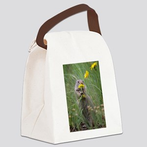 Morning Flowers Canvas Lunch Bag