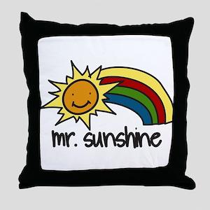 Mr. Sunshine Throw Pillow