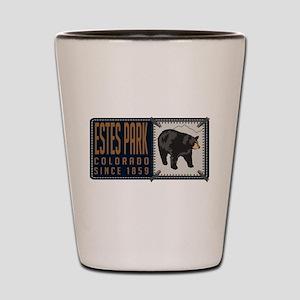 Estes Park Black Bear Badge Shot Glass