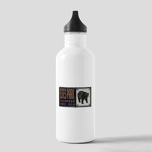 Estes Park Black Bear Badge Stainless Water Bottle