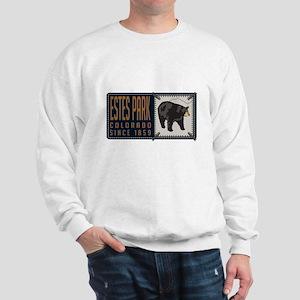 Estes Park Black Bear Badge Sweatshirt