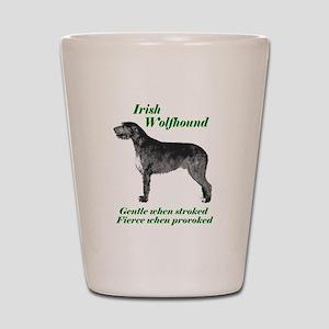 Irish Wolfhound Gentle when stroked Shot Glass