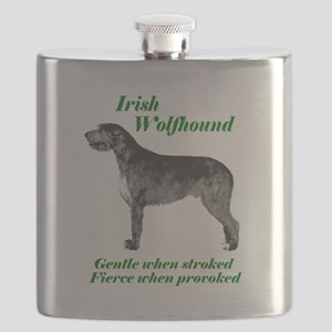 Irish Wolfhound Gentle when stroked Flask