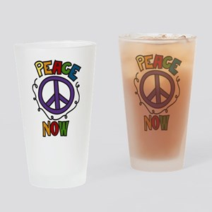 Peace Now Drinking Glass