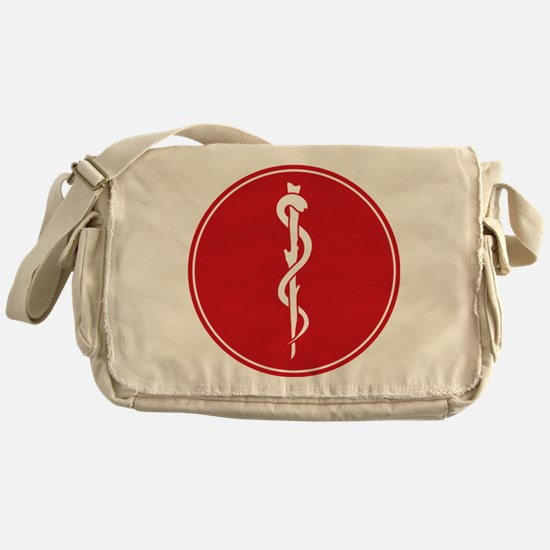 Rod of Asclepius Seal Messenger Bag