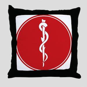Rod of Asclepius Seal Throw Pillow