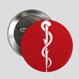 """Rod of Asclepius Seal 2.25"""" Button"""