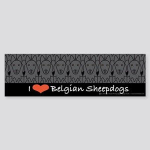 I Love Belgian Sheepdogs Bumper Sticker