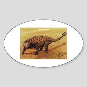 Pinacosaurus Dinosaur Oval Sticker