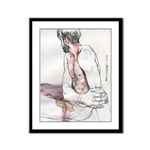 male figure drawing Framed Panel Print