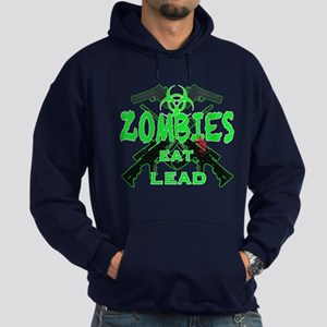 Zombies eat lead 3 Hoodie (dark)