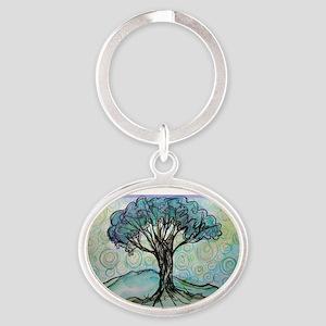 tree ! tree of life, art! Oval Keychain