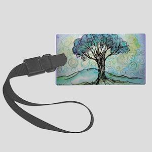 tree ! tree of life, art! Large Luggage Tag