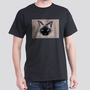 Applehead Siamese Cat Dark T-Shirt