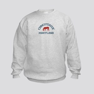 Chincoteague Island MD - Ponies Design. Kids Sweat