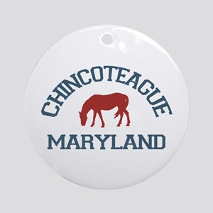 Chincoteague Island MD - Ponies Design. Ornament (