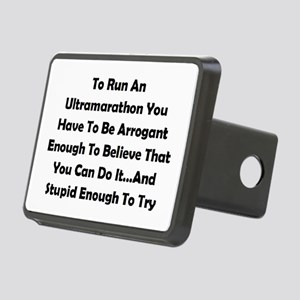 Ultramarathon Saying Rectangular Hitch Cover