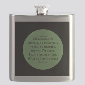 What am I doing Right-Charles Schultz Flask