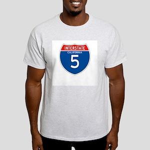 Interstate 5 - CA Ash Grey T-Shirt