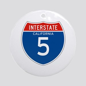 Interstate 5 - CA Ornament (Round)