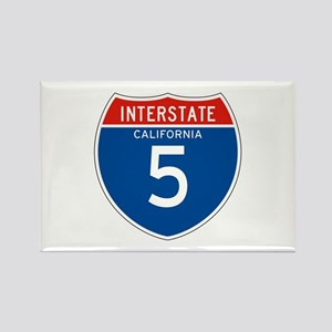 Interstate 5 - CA Rectangle Magnet