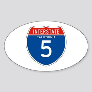 Interstate 5 - CA Oval Sticker