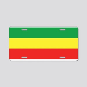ethiopian flag Aluminum License Plate