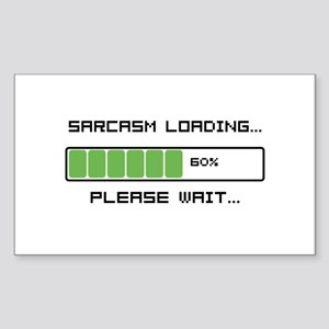 Sarcasm Loading Sticker (Rectangle)