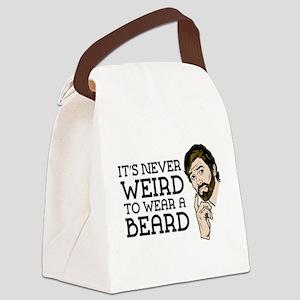 Its Never Weird To Wear A Beard Canvas Lunch Bag