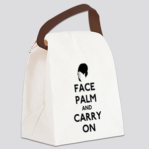 Face Palm And Carry On Canvas Lunch Bag
