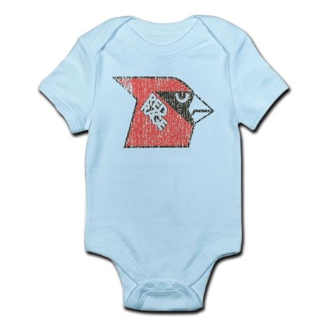 Red Rage Faded Infant Bodysuit