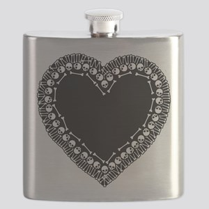 Pretty Skull Heart Flask