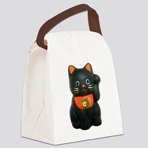 maneki neko blackF N Canvas Lunch Bag