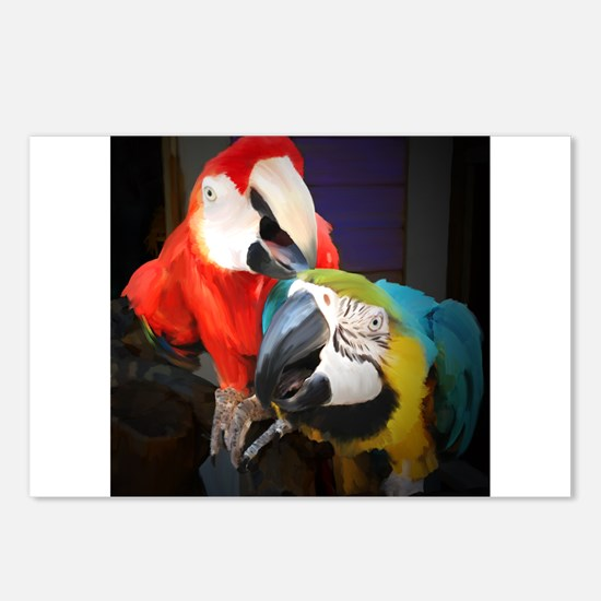 Unique Macaws Postcards (Package of 8)