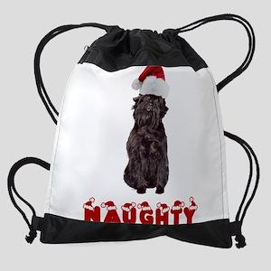 Naughty Affenpinscher Drawstring Bag