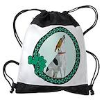 Irish American Foxhound Drawstring Bag