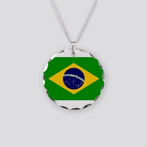 Brazil Necklace Circle Charm