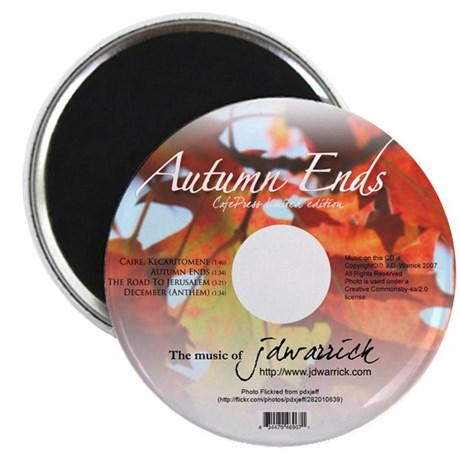 """2.25"""" Autumn Ends Magnet (10 pack)"""