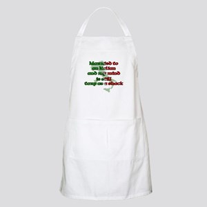 Married to an Italian BBQ Apron