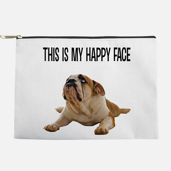 Happy Face Bulldog Makeup Pouch
