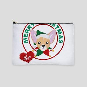Custom Chihuahua Christmas Makeup Pouch