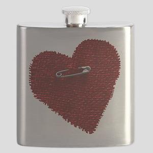 Pinned On Heart Flask