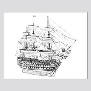 Classic Wooden Ship Sailboat Small Poster