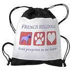 FIN-french-bulldog-pawprints.png Drawstring Bag