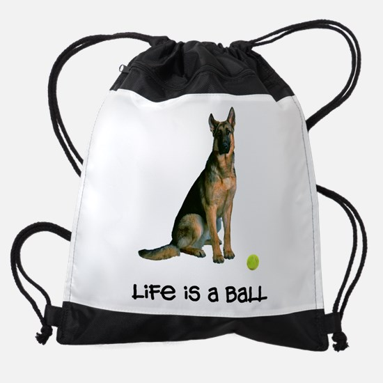 German Shepherd Life Drawstring Bag