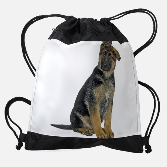 FIN-german-shepherd-puppy-photo.png Drawstring Bag