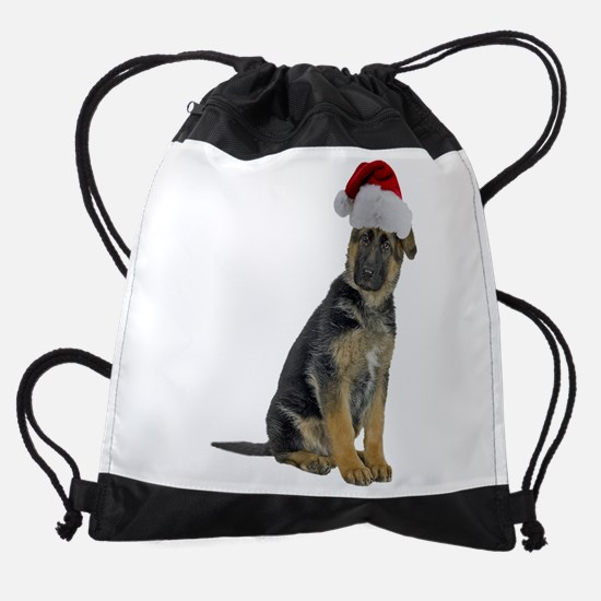 FIN-german-shepherd-santa-CROP.png Drawstring Bag